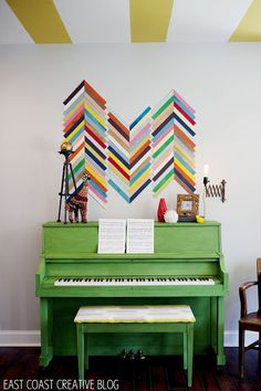 Green Painted Piano {Annie Sloan Chalk Paint}