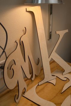 Big wood cutout letters