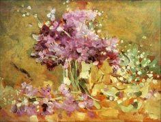 Violets by Stefan Luchian Different Art Styles, Art Database, Vintage Artwork, Beautiful Dream, Flower Pictures, Color Of Life, Art World, Impressionism, Flower Art