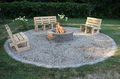 3 Wonderful Useful Ideas: Square Fire Pit Backyard fire pit furniture swing sets. Garden Fire Pit, Fire Pit Backyard, Backyard Patio, Backyard Landscaping, Backyard Seating, Backyard Ideas, Firepit Ideas, Fire Pit Landscaping Ideas, Outdoor Benches