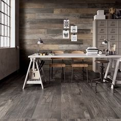 Wood-effect tiles are a stylish, practical and sustainable alternative to real timber. We're amazed by the realistic look of these 'Dolphin' porcelain designs by ABK Ceramiche. Find out how to get the look at home