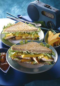 Hähnchenbrust, Curry-Joghurt, Mango, Salat, Mango-Chutney