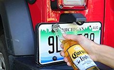 Rear License Plate Mounted Bottle Opener Accessory fits Jeep Wrangler JK and TJ Models Jeep Wrangler Jk, Jeep Wrangler Unlimited, Jeep Jku, Wrangler Sahara, Jeep Rubicon, Jeep Baby, Jeep Mods, Truck Mods, Jeep Wrangler Accessories