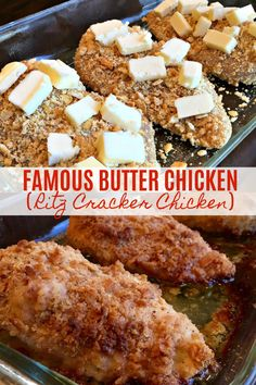 Famous Butter Chicken (aka, Ritz Cracker Chicken) - Sweet Little Bluebird Best Baked Chicken Recipe, Great Chicken Recipes, My Recipes, Cooking Recipes, Favorite Recipes, Recipies, Baked Butter Chicken, Dinner Recipes, Baked Chicken Breast