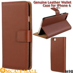 100 Pcs/Lot Genuine Leather Wallet Stand Case for iPhone 6 4.7 Inch Flip Phone Cases for iPhone6 i6 Card Holders Mix Colors, Accept the payment method via Paypal, Escrow, Credit Card, etc...