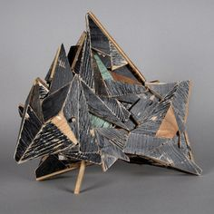 Moran Sculptures made from found wood, by Aaron Moran.Sculptures made from found wood, by Aaron Moran. Cardboard Sculpture, Wood Sculpture, Metal Sculptures, Bronze Sculpture, Sculpture Projects, Abstract Sculpture, Geometric Sculpture, Collage, Ap Art