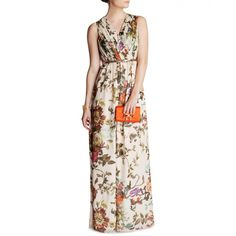 Ted Baker CRISTEN - Summer floral print maxi dress ($425) ❤ liked on Polyvore