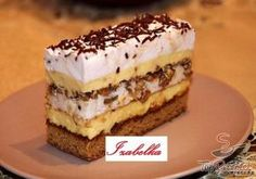 Easy Cake : A cake made of short crust pastry, quark whipped cream filling with vanilla flavor and . Czech Desserts, Cookie Desserts, Just Desserts, Cookie Recipes, Dessert Recipes, Hungarian Desserts, Hungarian Recipes, Dessert Drinks, Dessert Bars