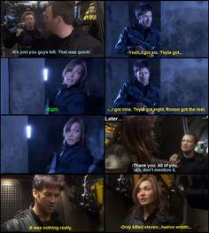Stargate Atlantis- Sateda. Lol Sheppard! Sci Fi Shows, Tv Shows, Stargate Universe, Fantasy Tv, Nerd Herd, Stargate Atlantis, Parks N Rec, Tv Show Quotes, Geek Girls
