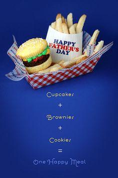 Brownie Burger Cupcakes & Cookie Fries by Bakerella, via Flickr