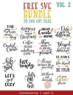 #ad Free SVG Bundle Vol.2 #freesvg #commercialsvg #silhouette #cricut