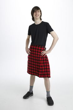 The Rob Roy MacGregor Tartan Kilt is a classic-style kilt that features a small plaid pattern from top to bottom. This kilt is red and black in color, presenting itself as a checkered pattern that is eye catching to see. #RobRoyMacgregorTartanKilt #KiltsForSale #RobRoyMacgregorTartan #MacgregorTartan