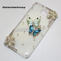 Blig Butterfly Flower Case Cover For Samsung Galaxy 2016 2017 Edge Active Grand Prime Duos Neo Samsung J7 Prime, Cell Phone Covers, Butterfly Flowers, S7 Edge, A5, Belly Button Rings, Samsung Galaxy, Cases, Drop Earrings