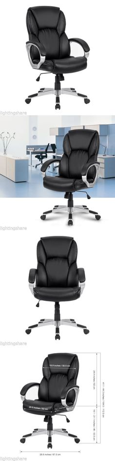 Chairs 54235: Modern Ergonomic Leather Mid-Back Computer Executive Office Chair Desk Seat New -> BUY IT NOW ONLY: $37.9 on eBay!