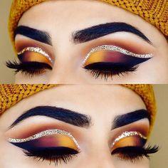 53 Ideas eye makeup red and gold eyeliner Matte Makeup, Red Makeup, Makeup Set, Makeup Goals, Makeup Inspo, Makeup Inspiration, Yellow Makeup, Makeup Ideas, Makeup Tutorials
