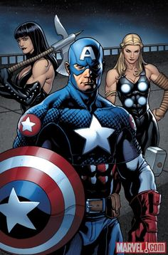 Image Featuring Ultimates, Captain America (Ultimate), Valkyrie (Ultimate)