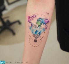 Amazing Ideas From Simple Tattoo Designs In 2019 Body Art Tattoos, New Tattoos, Small Tattoos, Tatoos, Piercing Tattoo, Pretty Tattoos, Beautiful Tattoos, Widder Tattoos, Air Balloon Tattoo