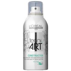 L'oreal Professionnel CONSTRUCTOR TECNI ART Thermo-Active spray for texture and hold. HOT system (Heat optimising technologies). Thermo-Active for protection, volume  and texture. 150ML