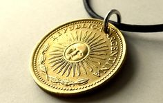 Argentinian coin necklace, Argentine necklace, Vintage coin necklace, Repurposed necklace, 39th birthday gift, South American necklace, 1976 by CoinStories on Etsy