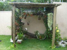 51 DIY Smart Mini Garden für Dekoration im Freien Backyard Pergola, Diy Patio, Pergola Kits, Patio Ideas Australia, Garden Art, Garden Design, Orchid House, Wooden Garden Planters, Shade House