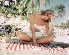 """topmoss: """"Grace Kelly looking absolutely gorgeous in her white swimsuit. """""""