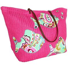 Amazon.com: Vera Bradley Large Straw Tote (Pixie Confetti): Vera... ❤ liked on Polyvore featuring bags, handbags, tote bags, straw purses, pink tote bag, straw tote handbags, pink handbags and tote purse
