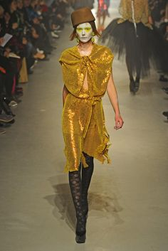 Vivienne Westwood RTW Fall 2013 - Not big on the sequins, but I love the color and the drape