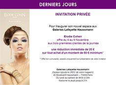 Derniers jours invitation privée Galeries Lafayette Haussmann