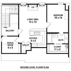 787 sf, 35x30, 1-2-2, 2 story (this is the plan of the second floor)