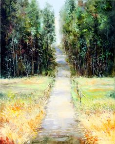Forest road 100x80 oil on canvas 2016
