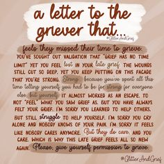 Normalize Grief   @GlitterAndGrief - Grief Quotes