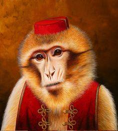 Monkey Circus - 2010 Acrylique sur toile 100 x 100 cm