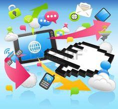 Hand Sign ,cloud computing,internet,tablet PC,business set