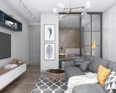 Proiect de amenajare cu dormitor separat pentru o garsonieră de 44 m² Jurnal de design interior