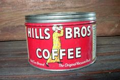 Vintage Hills Bros Coffee Tin CanKey Type by TheTwistedCrafts on etsy.