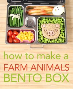 Learn to make a farm animals bento box with the cutest chicky hard boiled egg ever!