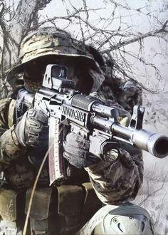 AK74 w/ Woodland Camo