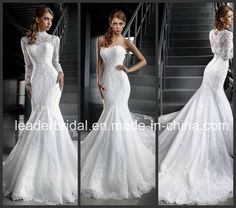 13409cb2e08 China Mermaid Wedding Gown Cap Sleeves Lace Mermaid Bridal Wedding Dress  Find details about China Wedding Dress