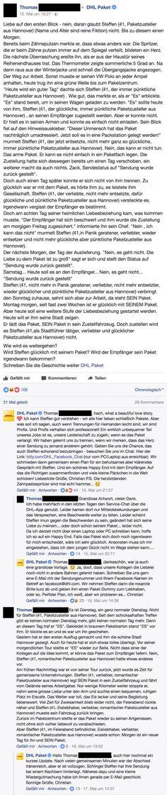 Die Geschichte eines verliebten Paketzustellers   long but worth the read :'D