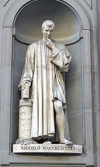 This statue is in the Uffizi and was made by Nicolo Machiavelli. THis is a big sculpture that shows details in the face and a different way of standing. I like this because it shows this person standing more normal that stiff as a board like every other sculpture.