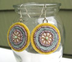 cute felt earrings!! going to make these too!!