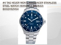 #4 TAG HEUER MEN'S AQUARACER STAINLESS STEEL WATCH (WAN2111.BA0822) B002X9ZH54