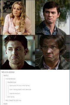 Do I laugh or do I cry?? Ladies and gentlemen, I give you the Supernatural fandom. where you either laugh or cry. no in betweens