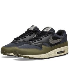 huge selection of 3836b 7a301 Buy the Nike Air Max 1 SE in Olive, Cream   Black from leading mens fashion  retailer END.