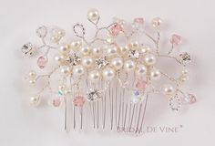Bridal Hair Comb made with Ivory Pearl Antique by BridalDeVine