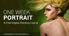 A free digital painting course to improve your portrait skills in just one week. Ready to join?