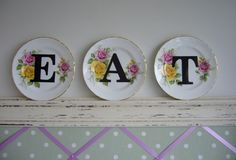 How to make DIY vintage china with typographic letters by @angel_in_north on @florence finds...