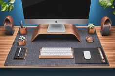 Wool Felt Desk Pad is a 3mm thick Merino Wool felt designed to protect your desk but also enrich the visual structure of your workspace. It's a soft material that goes perfectly with other Gr…