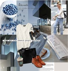 """""""blue jeans"""" by magdafunk ❤ liked on Polyvore"""