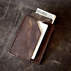 'Rex' is our slimmest handmade leather wallet yet. Perfect for minimalist… Leather Front Pocket Wallet, Leather Wallet Pattern, Slim Leather Wallet, Handmade Leather Wallet, Leather Gifts, Leather Bifold Wallet, Leather Craft, Leather Bags, Leather Backpacks